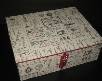 Cartonnage passion: Grande boîte à couture