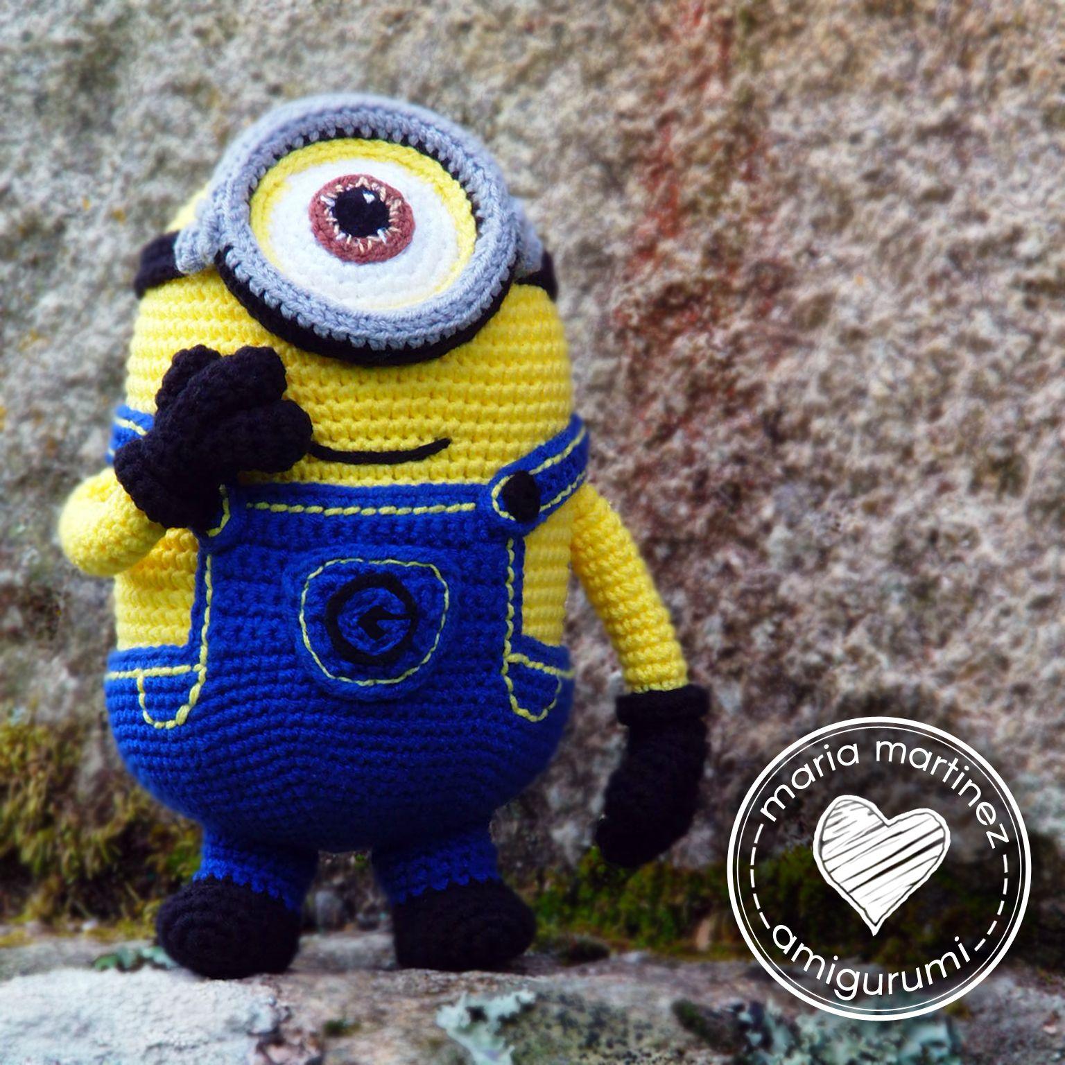 Amigurumi Minion Grande : Minion Stuart, patron gratis en espanol #amigurumi # ...