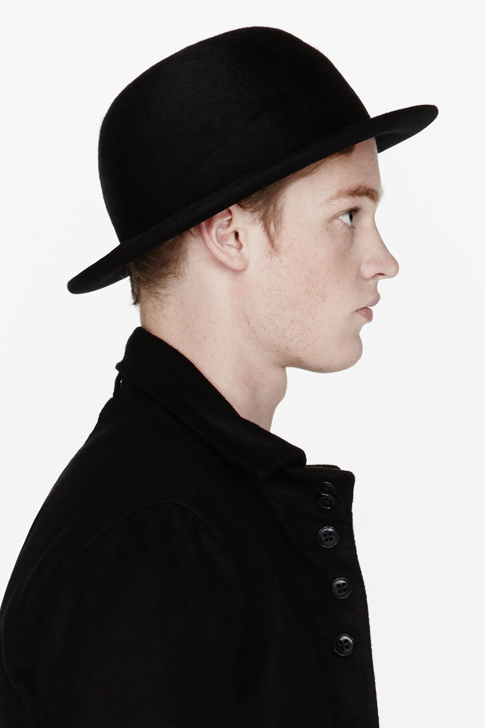 ANN DEMEULEMEESTER Black wool round hat  42af9e6fbb7