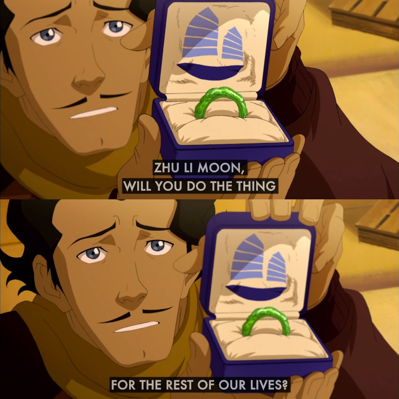 Varrick and Zhu Lee | Book 4: Balance | Legend of Korra | Avatar~ BEST PROPOSAL EVER THAT IS ALL! *drops mic and walks away*