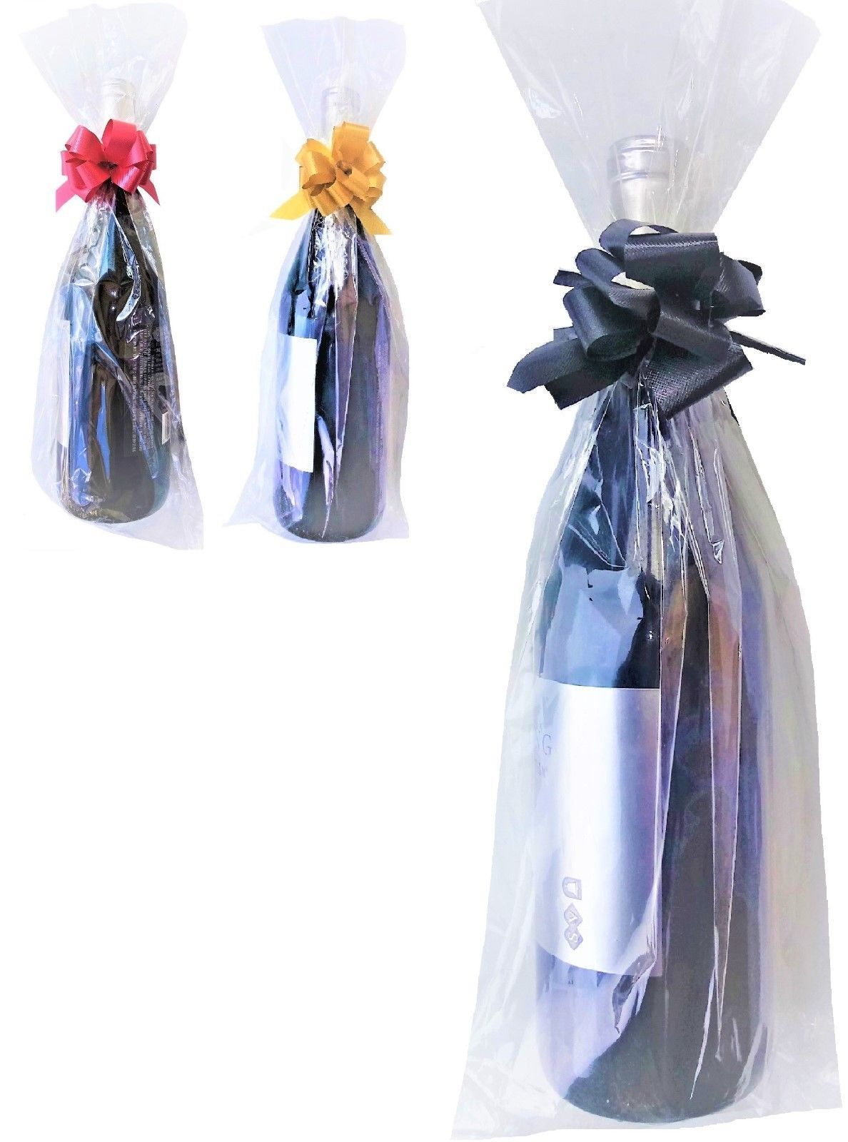 Cellophane 170102 Wine Bottle Bags Clear Cello Bag Tall Pillar Candle Gift Packaging It Now Only 16 77 On Ebay
