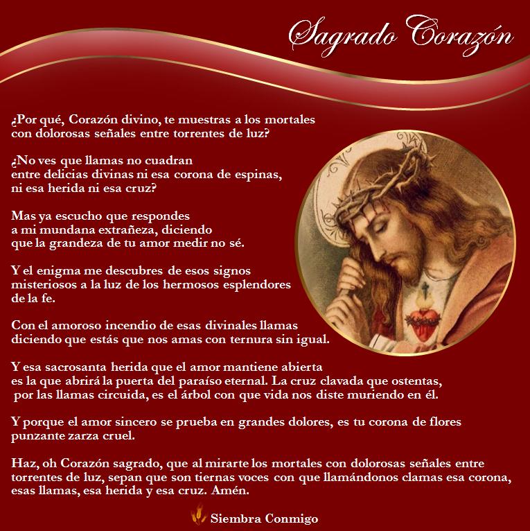 El Sagrado Corazon Oraciones En 2020 Oraciones Corazones Sagrado Corazon