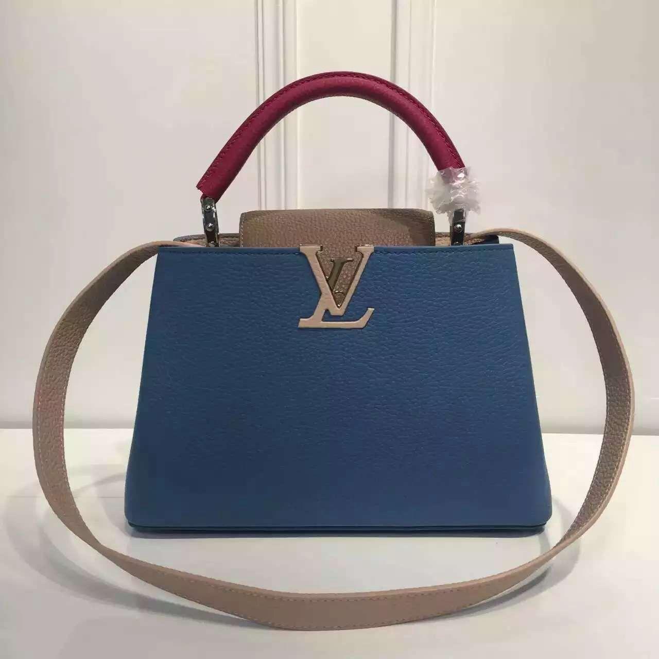 Louis Vuitton Grained Calfskin Multicolor Capucines BB Bag Blue Dune Designer  Bags For Less, b32b61f01c