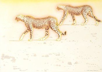 Peter's cheetahs by Larry Rivers