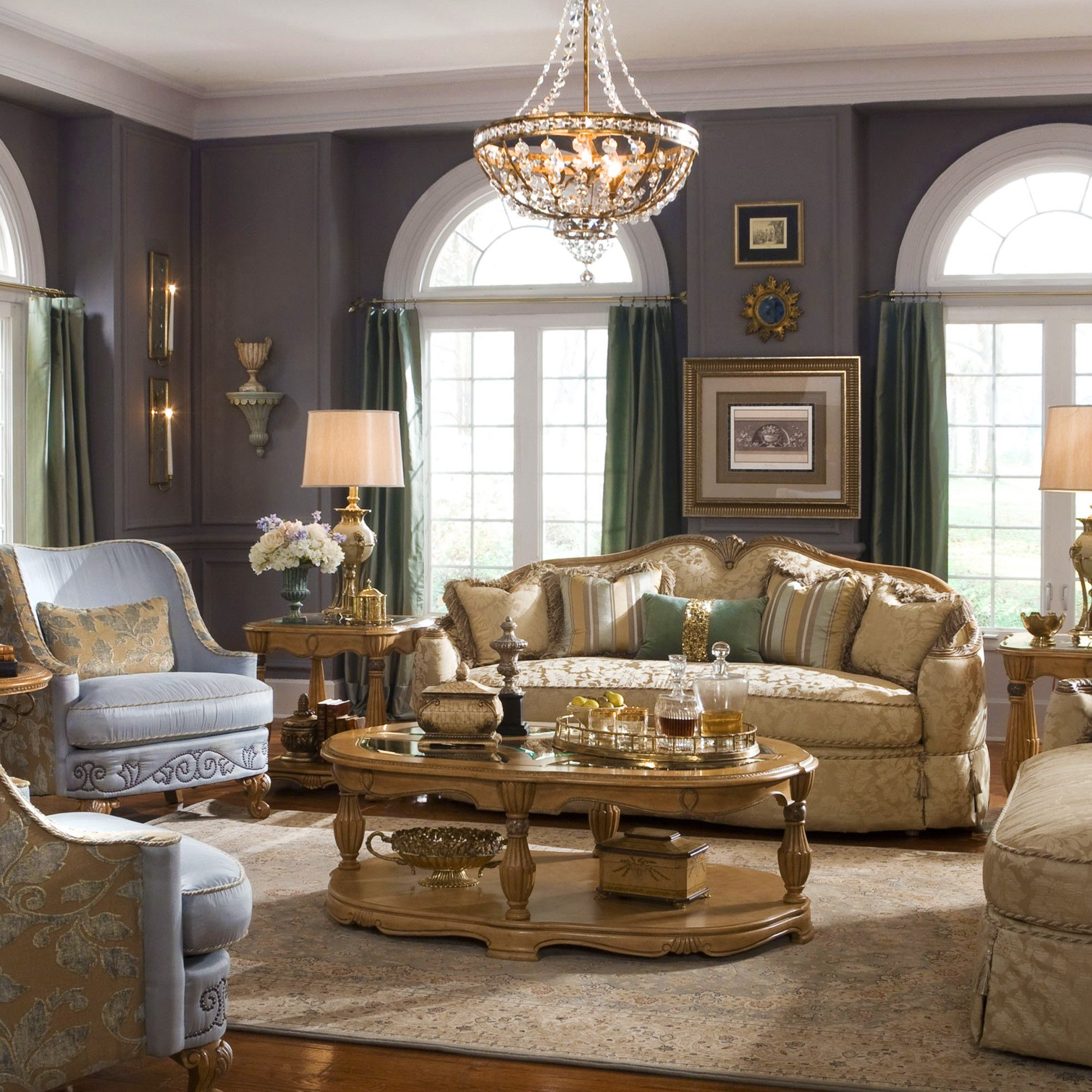 Best Grande Aristocrat Living Room From Gallery Furniture Of 400 x 300