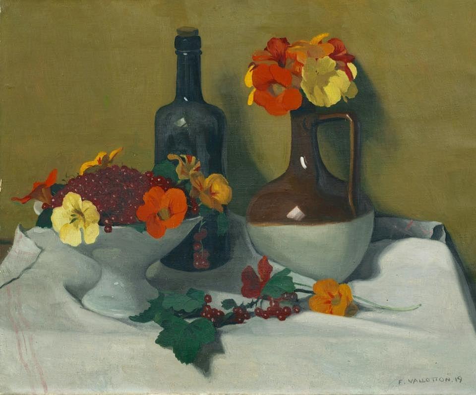 Groseilles et Capucines (1919), by Félix Vallotton (1865-1925).