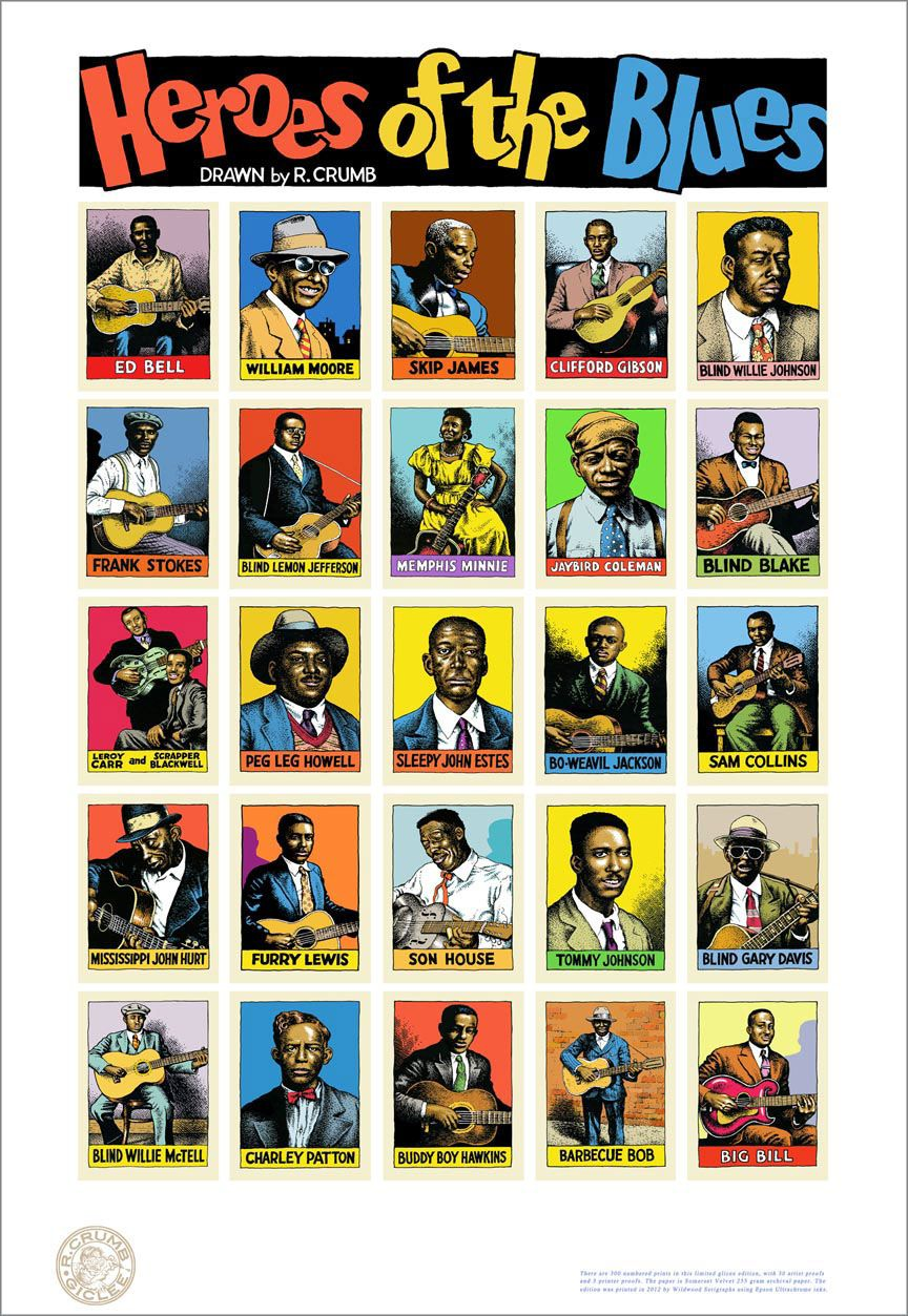 Heroes of the Blues by Robert Crumb.