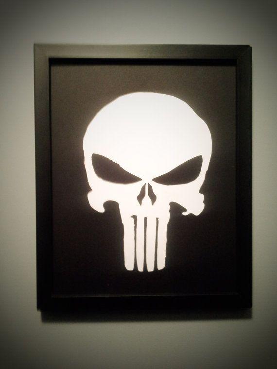 Punisher Wall Art Nerd Art Wall Art Art