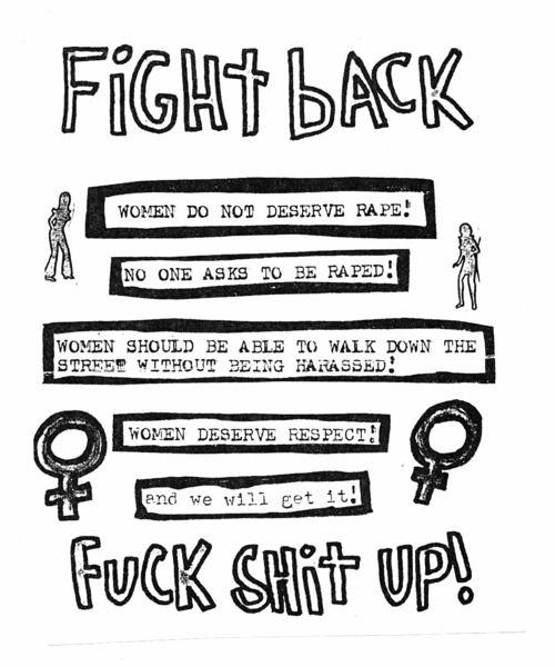 Fight Back! Women don't deserve rape. Fuck shit up!