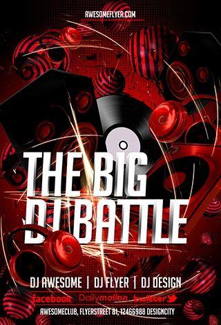 Free DJ Battle PSD Flyer Template -    freepsdflyer free - hip hop flyer template