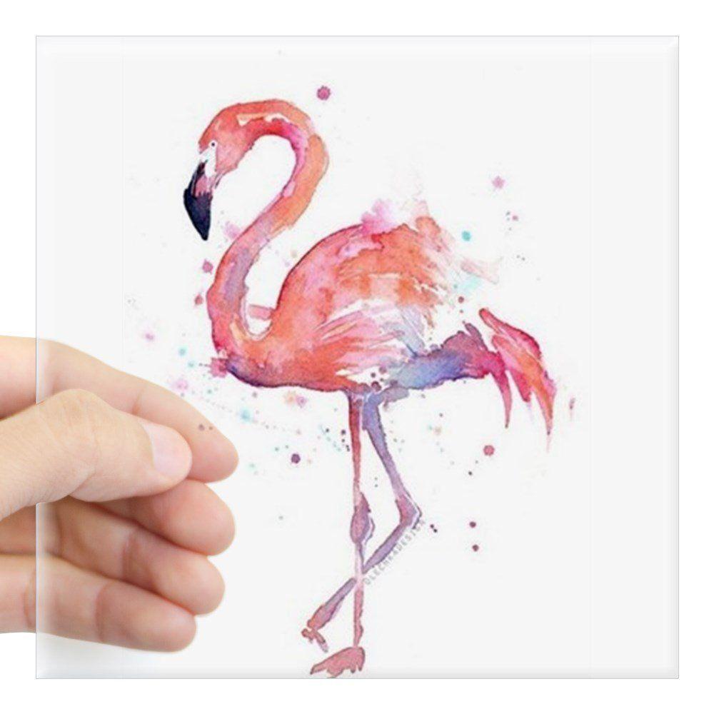 Amazon Com Cafepress Flamingo Sticker Square Bumper Sticker Car Decal 3 X3 Small Or 5 X5 Lar Flamingo Wall Art Watercolor Art Prints Animal Wall Art [ 1000 x 1000 Pixel ]