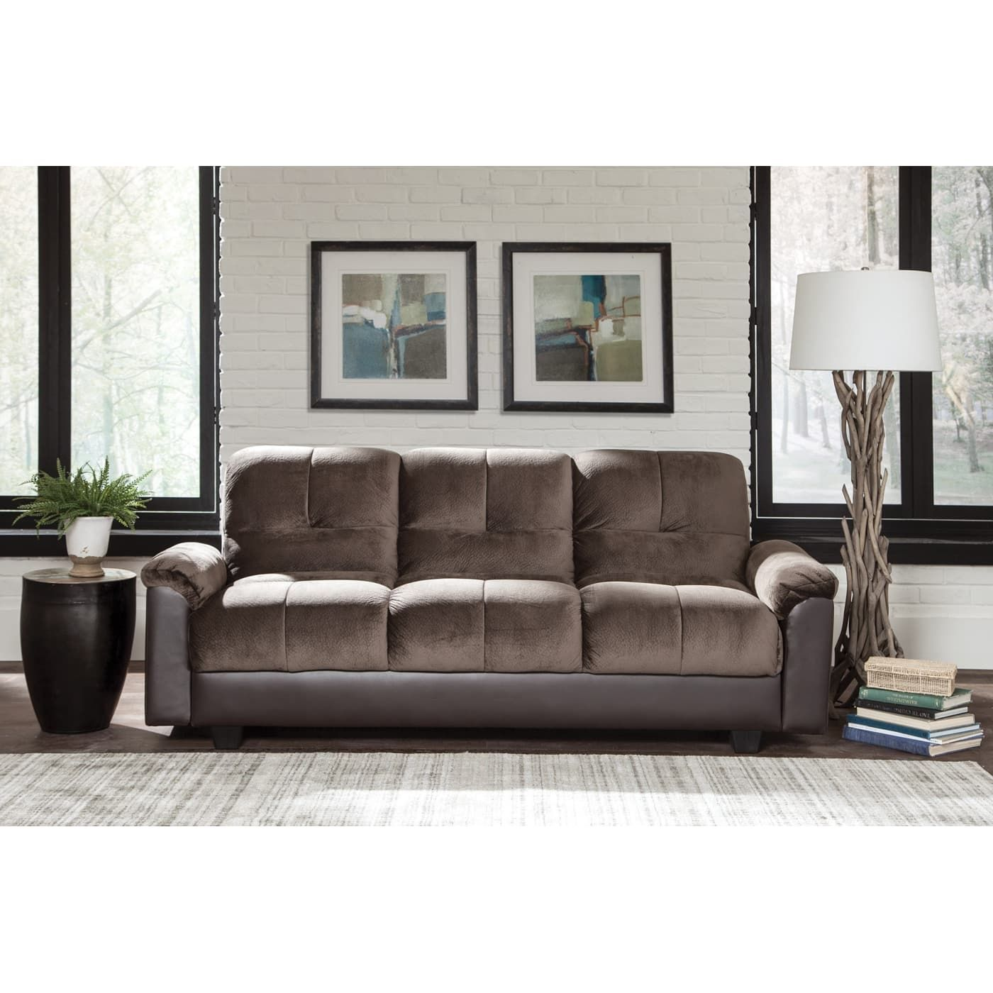 Best Coaster Chocolate Brown Sofa Bed Reviews Goedekers Com 400 x 300