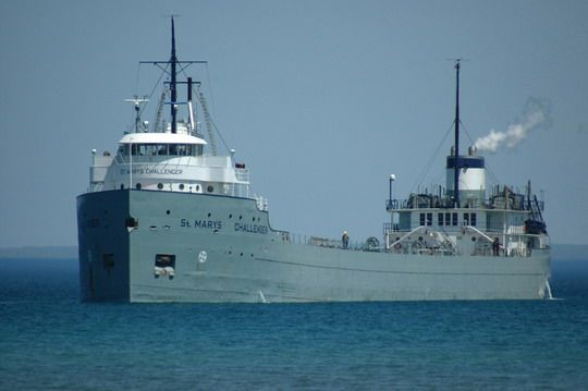 The oldest working freighter on the great lakes my for Lake hefner fishing report