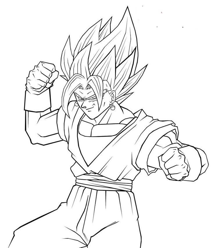 Dragon Ball Z Coloring Pages Vegito Dragon Ball Z Lion Coloring Pages Dragon Ball