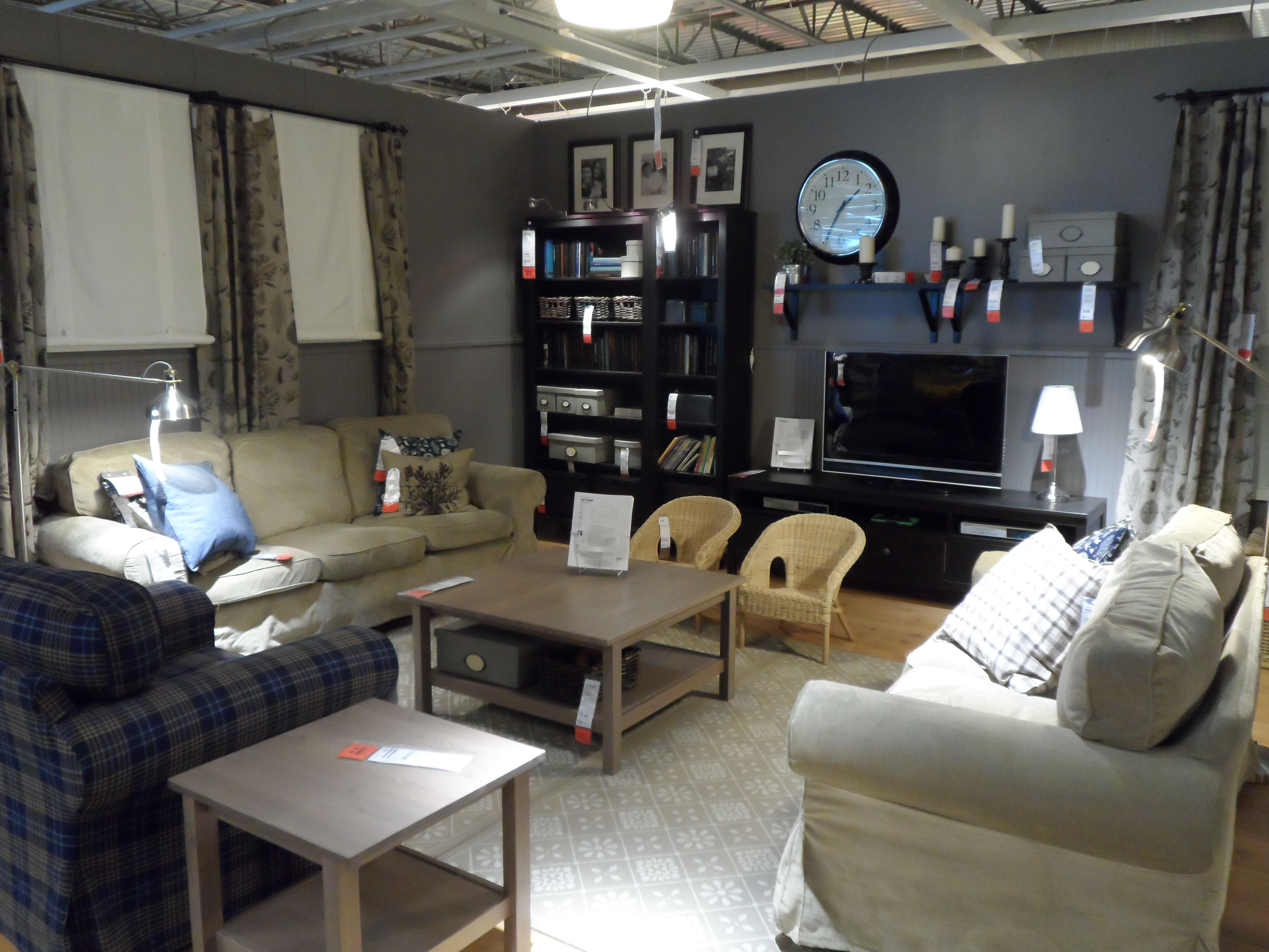 Ikea Showroom Living Room Decorating Long Canton Mi Gray Or Grey Walls Shopping