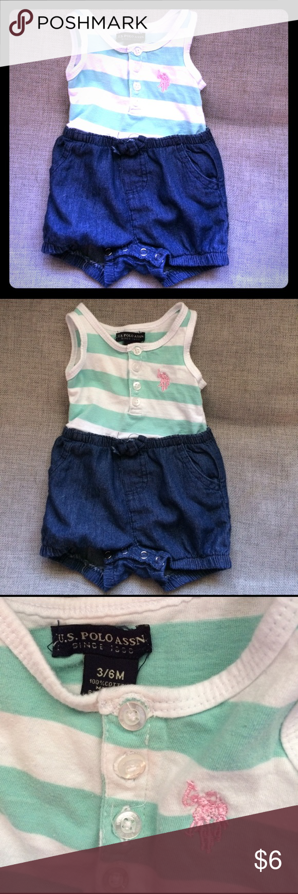 Baby girl romper Price is firm; I don't accept offers. No trades. Bundle and save! Polo by Ralph Lauren Matching Sets