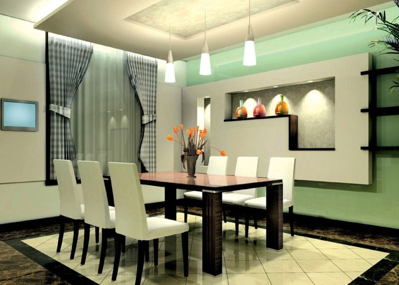 Modern minimalist dining room design ideas with for Modern dining area ideas