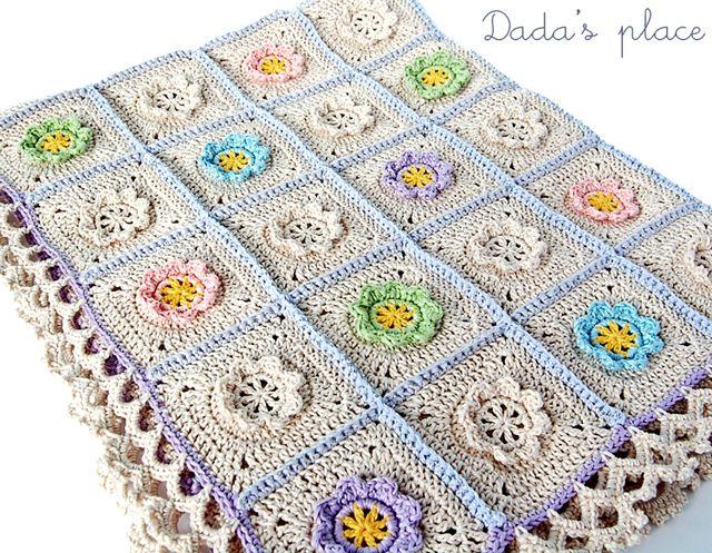 Dada\'s place: Little flowers baby blanket | PATURICI COPII ...