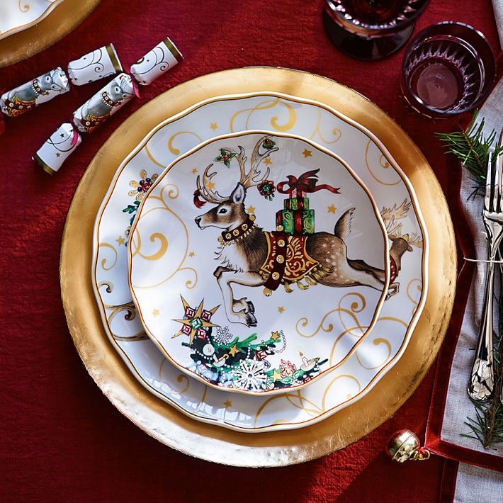 Twas The Night Before Christmas Dinner Plates Santa 55