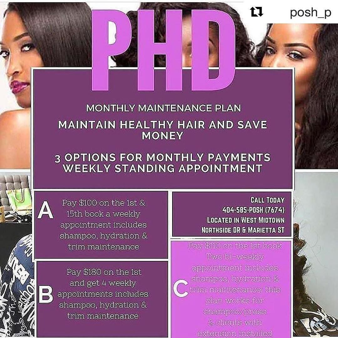 Repost Healthy Hair Starts With A Regimen Book Your Monthly