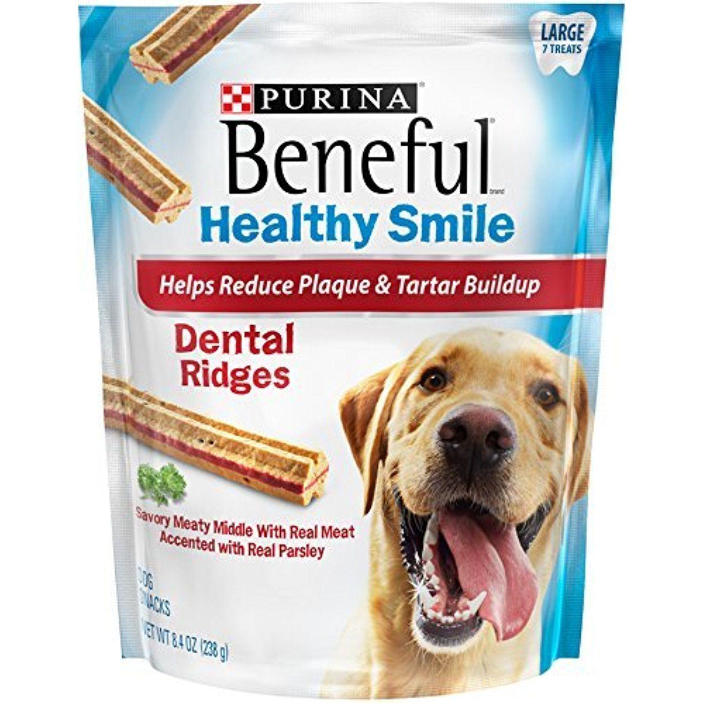 Purina Beneful Healthy Smile Dental Ridges Large Dog Treats 8 4
