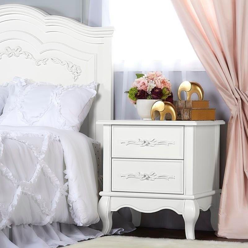 Evolur Aurora Nightstand Grey Wood Furniture Nightstand Online Furniture Stores