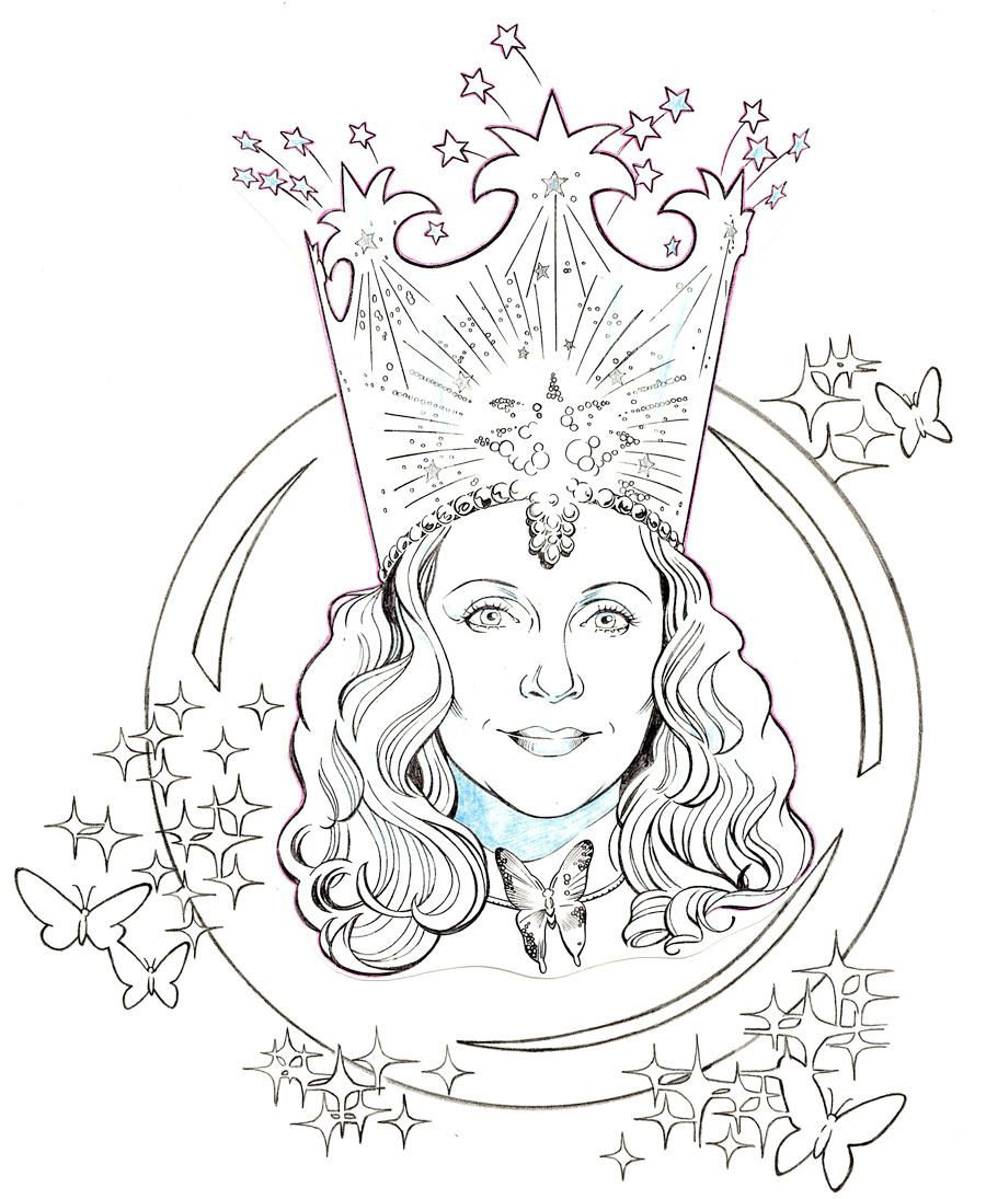 The Wizard Of Oz Glinda The Good Witch By Jerome K Moore Witch Coloring Pages Wizard Of Oz Color Wizard Of Oz Characters