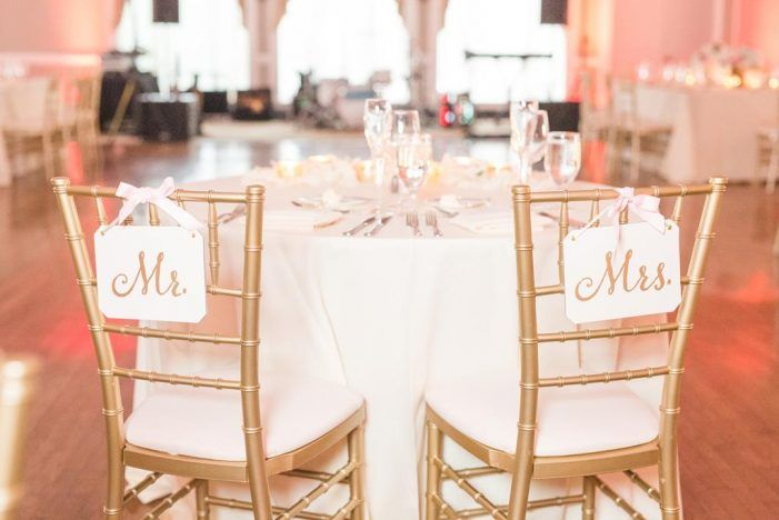 mr mrs chair signs, gold accents | susie and becky photography ...