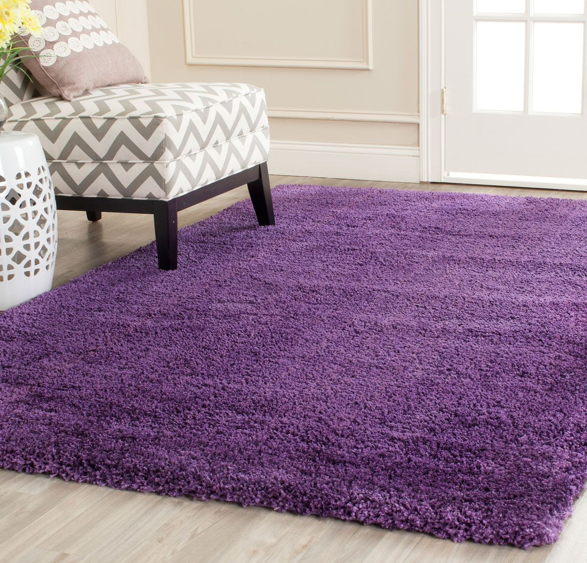 Purple Shag Milan Shags Safavieh Com Purple Rug Purple Area Rugs Solid Rugs