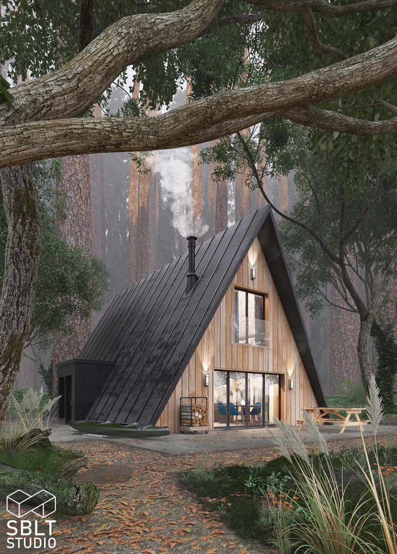 03 A Frame Cabin Cam 01 Ronen Bekerman 3d Architectural