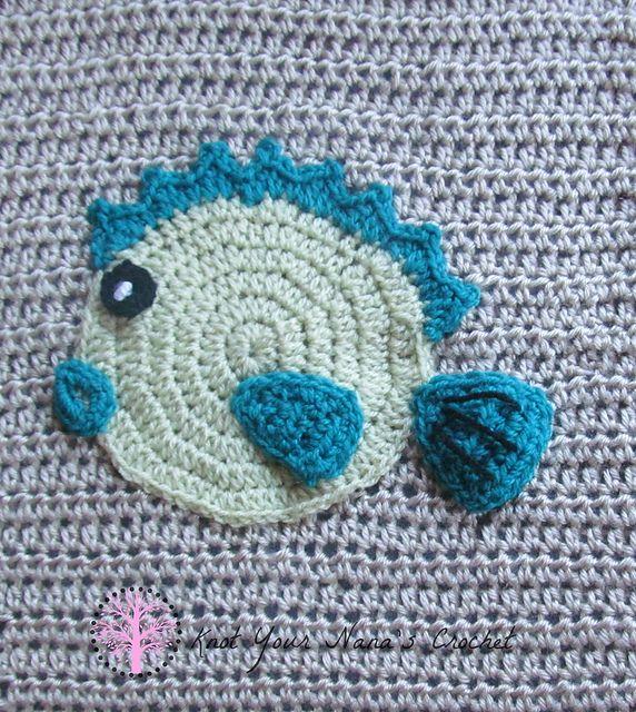 Puffer Fish Applique Pattern By Teri Heathcote Crochet Knit