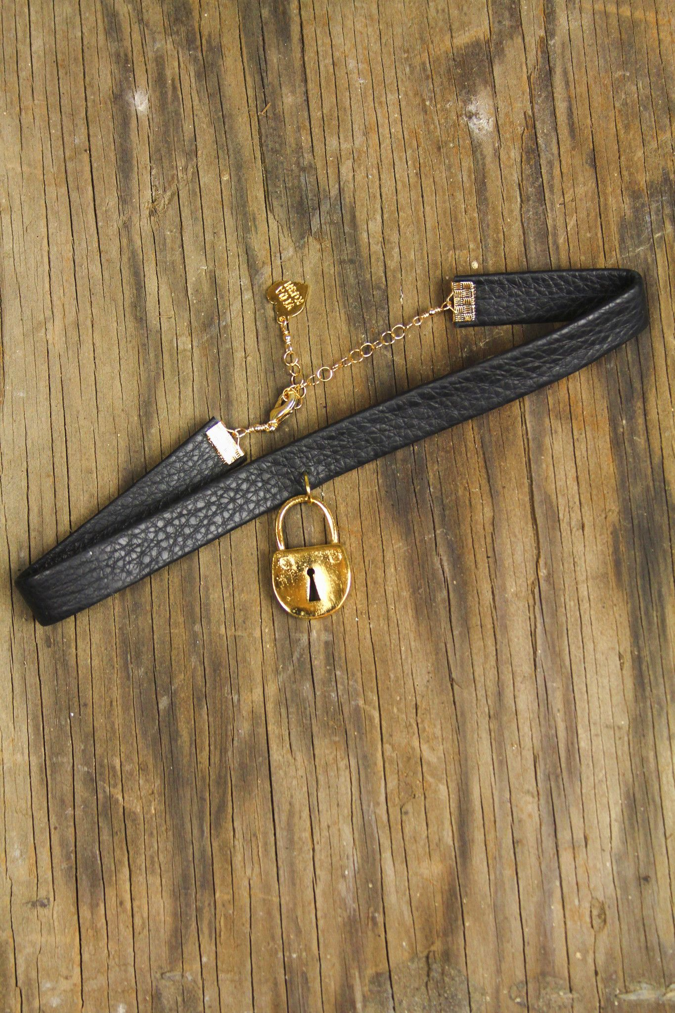 Design house jewelry - From La Based Design House Vidakush Our Edgy Choker Comes Wiht A Golden Lock