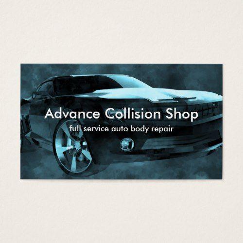 Automotive Collision Repair Business Card Zazzle Com Collision