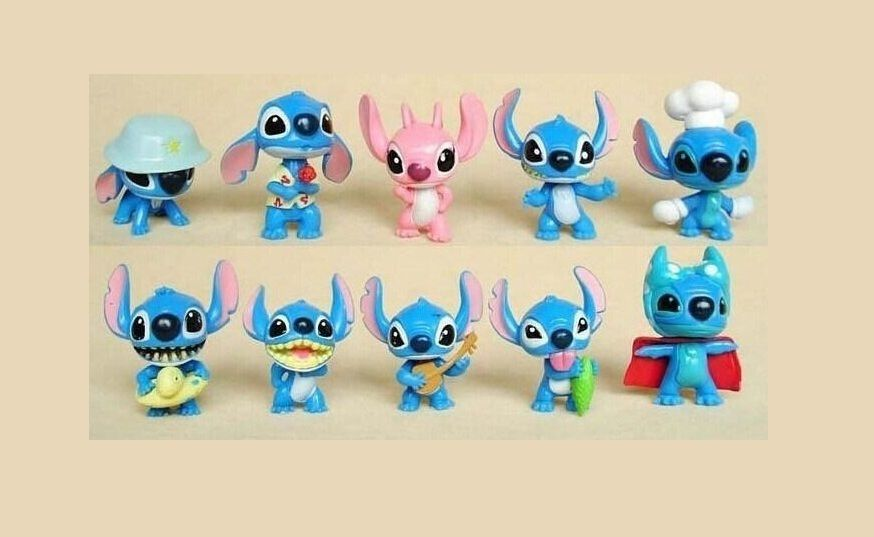 12Pcs Disney Anime Lilo /& Stitch Action Figure Collectible Toy Kids Xmas Gift