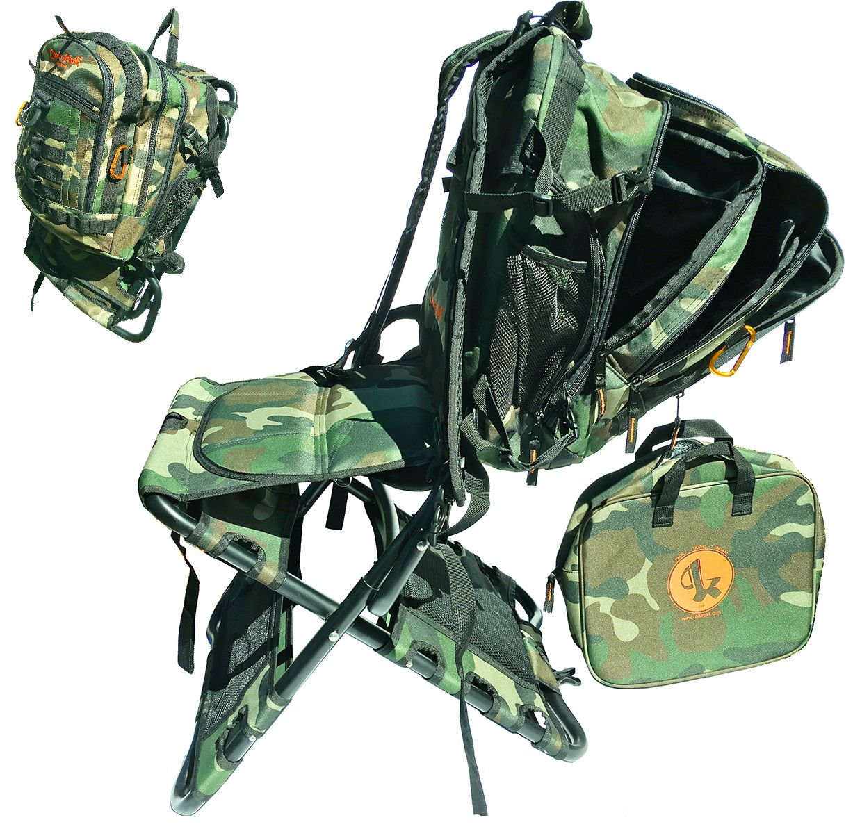All Purpose Camo Backpacking chair, Cool backpacks