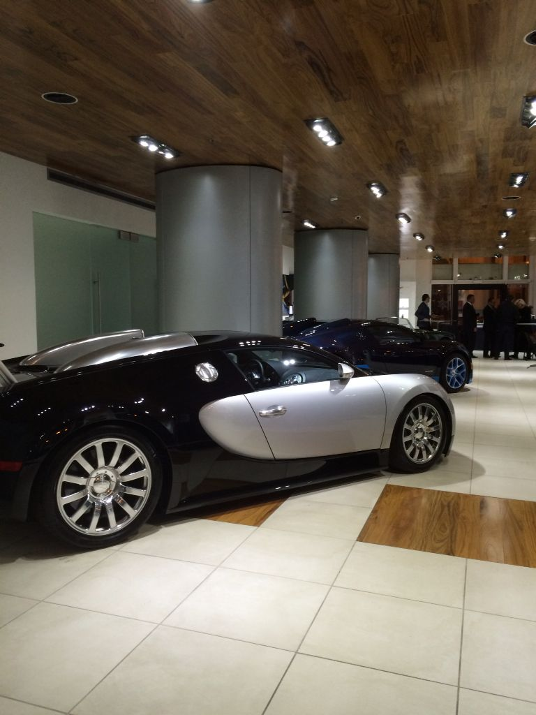 One of the many luxury cars on display at Bentley