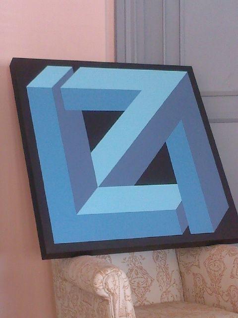 R plica de jose m yturralde figuras imposibles art - Figuras geometricas imposibles ...