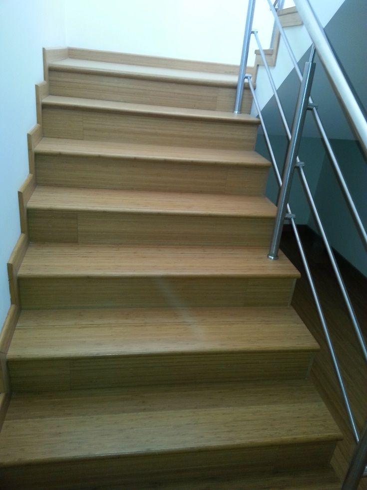 Escalera principal pisos de bamb ideas pinterest - Escalera de bambu ...