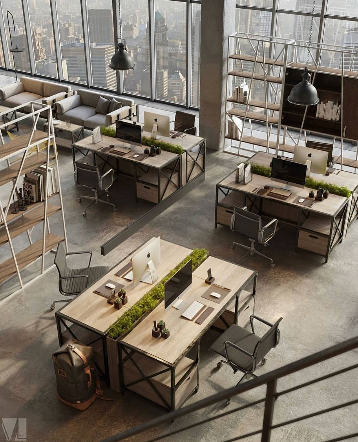 Integrando la naturaleza working spaces en 2019 for Diseno de oficinas modernas para abogados
