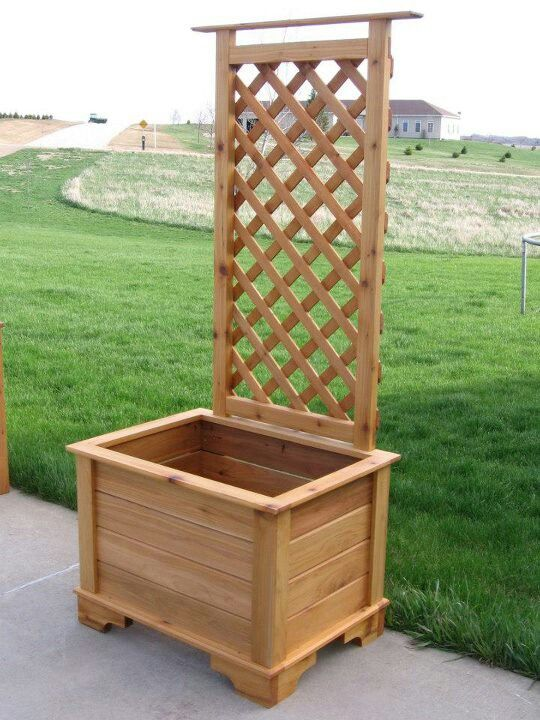 Planter Box Trellis Garden Ideas Arbor Bench Planter