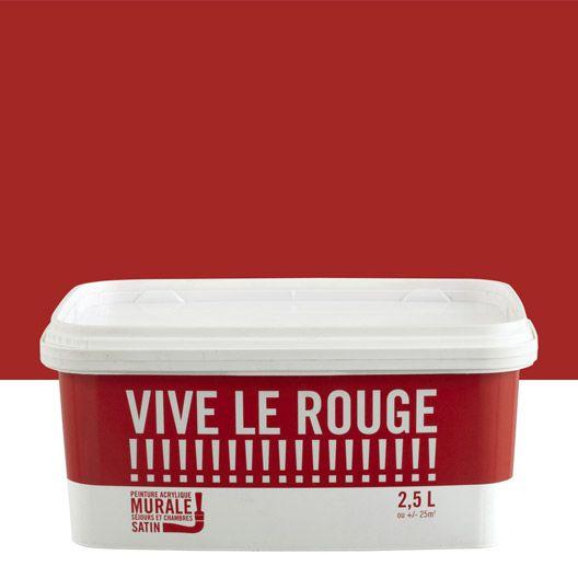 ... 2.5 L #peinture #mur #couleur #rouge #flash #interieur #magasin  #leroymerlinguerande #Guerande #loireatlantique #bricolage #catalogue # Maison #france