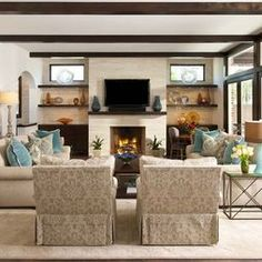 Contemporary Family Room Design Idea By Ellen Grasso Sons LLC Decor Rooms Living