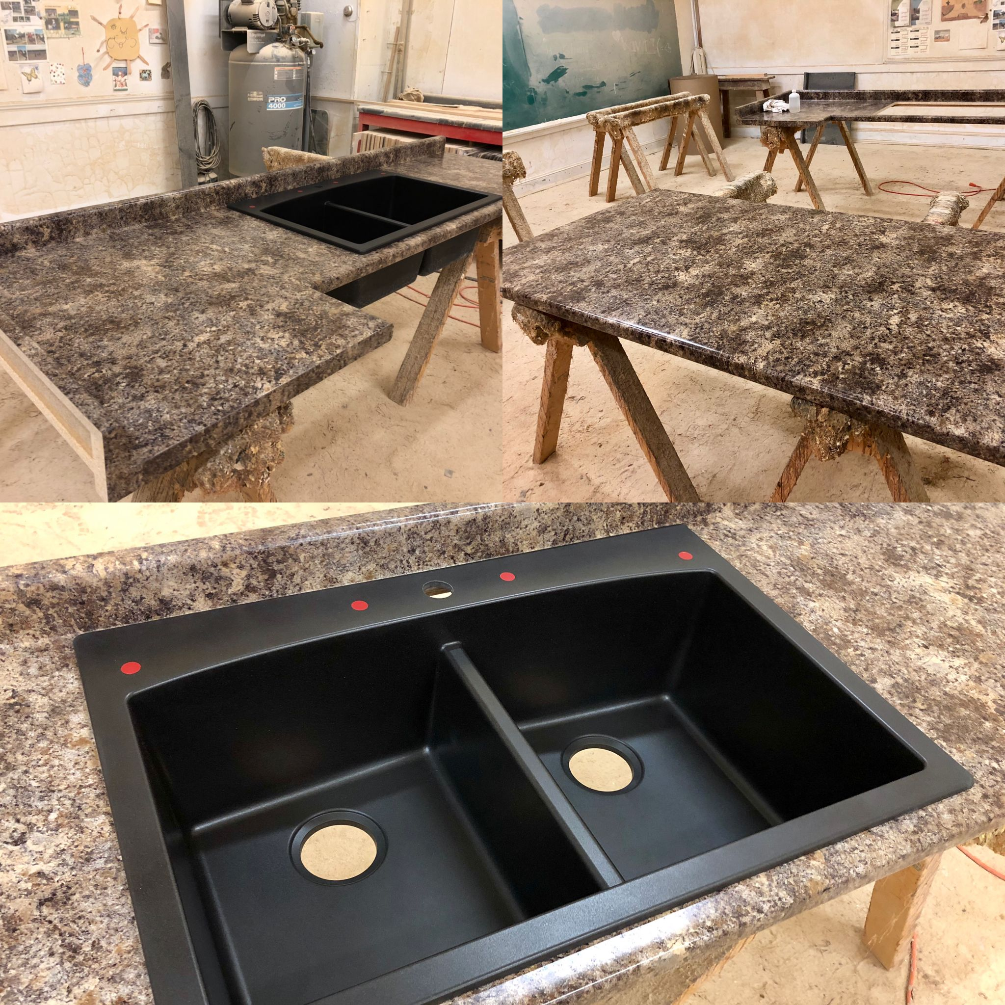 A Very Popular Color Here At Poney S This Is Jamocha Granite In An Etchings Finish Jamocha Gran Granite Laminate Countertops Laminate Countertops Countertops