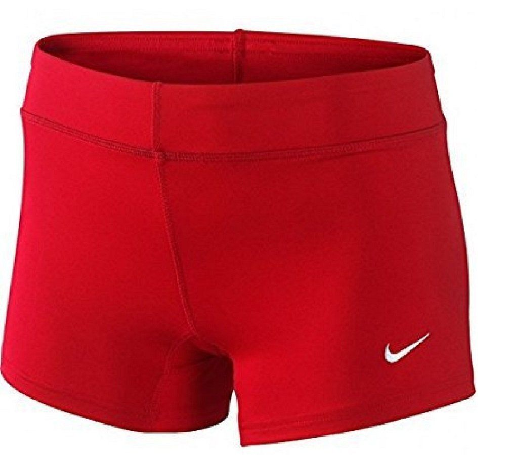 Nike Performance Women S 3 75 Game Shorts Scarlet Medium With Images Womens Active Shorts Shorts Women