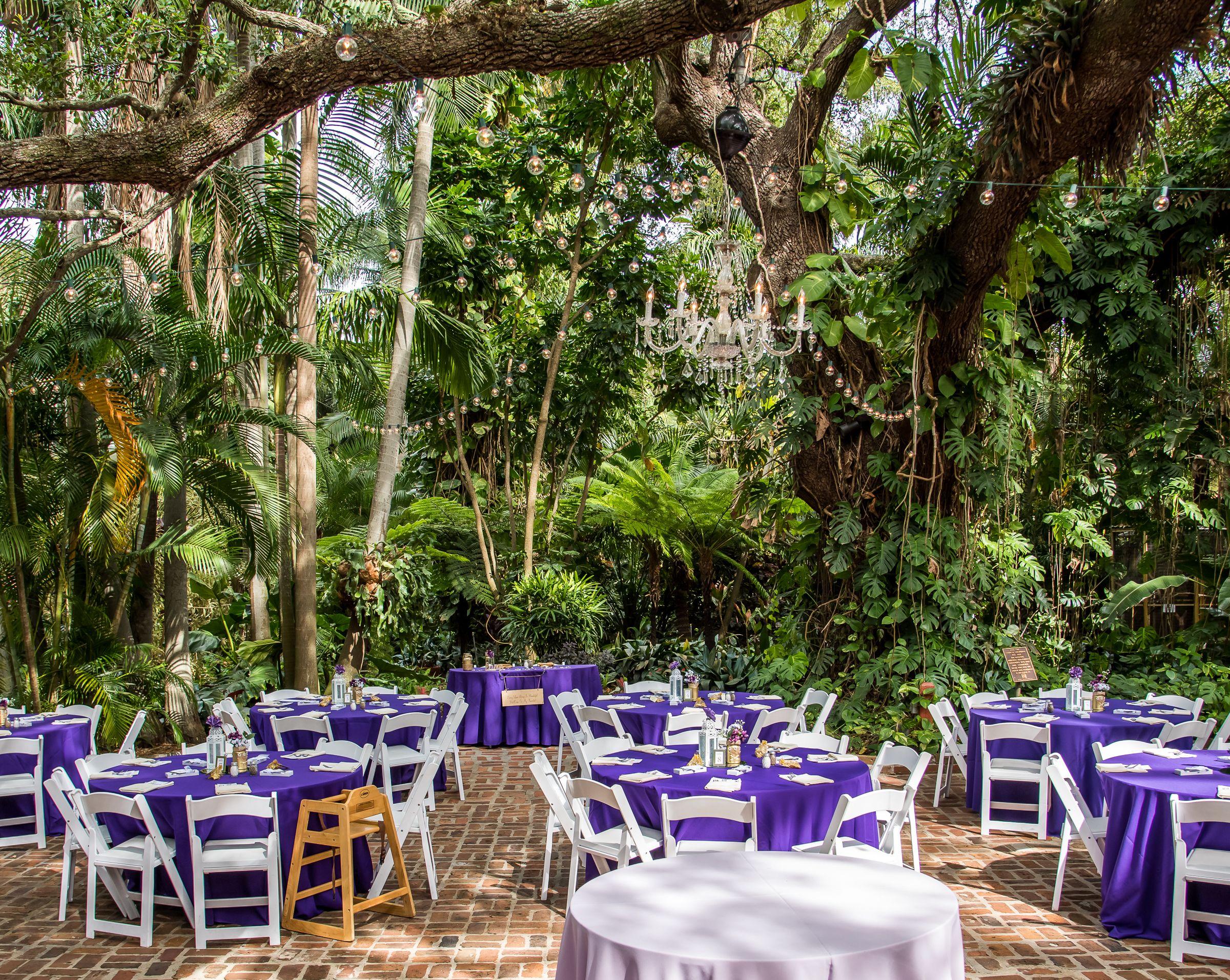 Wedding Reception in Sunken Gardens, St. Petersburg, FL