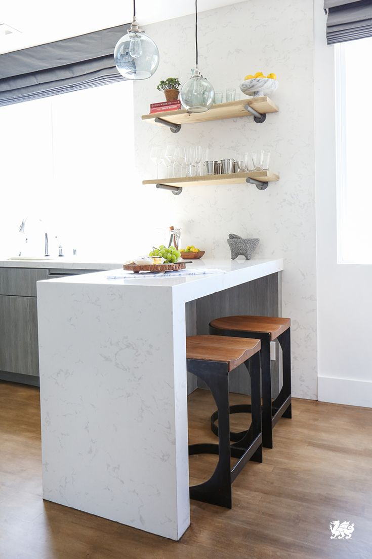 You can still have a kitchen island, even if you\'re limited on space ...