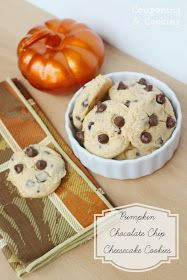 Pumpkin Chocolate Chip Cheesecake Cookies- the perfect hint of fall! www.couponingncooking.com