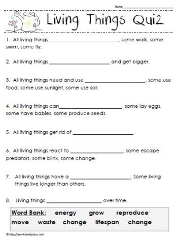 living things quiz homeschooling lesson ideas material pinterest rh pinterest com
