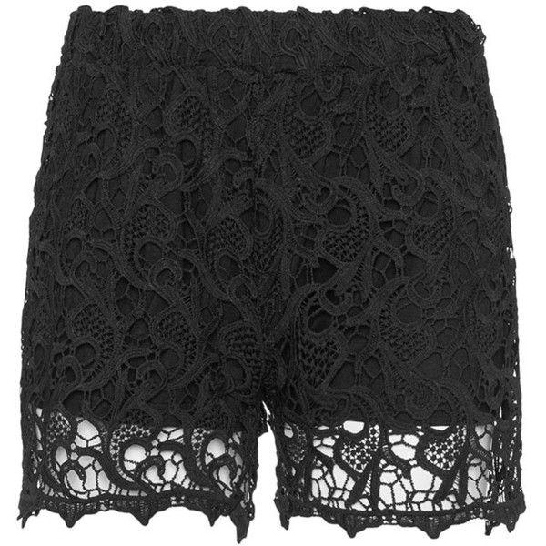 Plus Size Crochet Shorts,BLACK | Women's plus size shorts