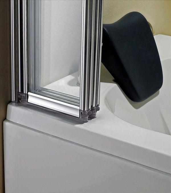 High Quality 4 Folds And 5 Folds Bathroom Chrome Folding Bath Shower Screen Glass Door  Panel